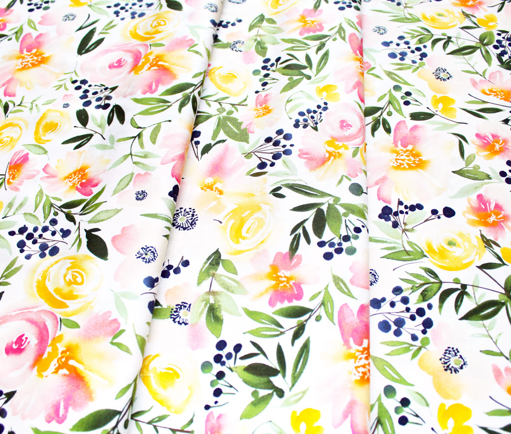 Cloud9 Fabrics Field & Sky 216401 Floral Ensemble