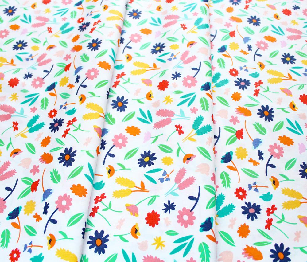 Art Gallery Fabrics Summer Side Breezy Blossoms Lemonade