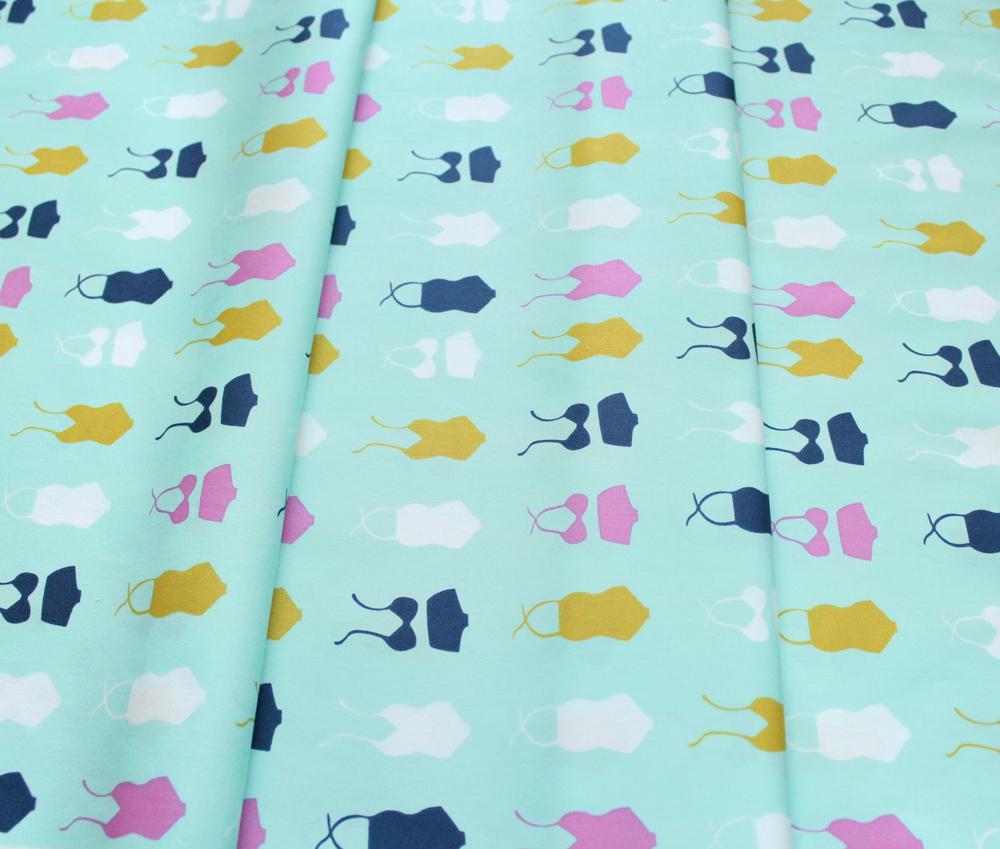 Art Gallery Fabrics Summer Side Swimsuit Soiree Seafoam