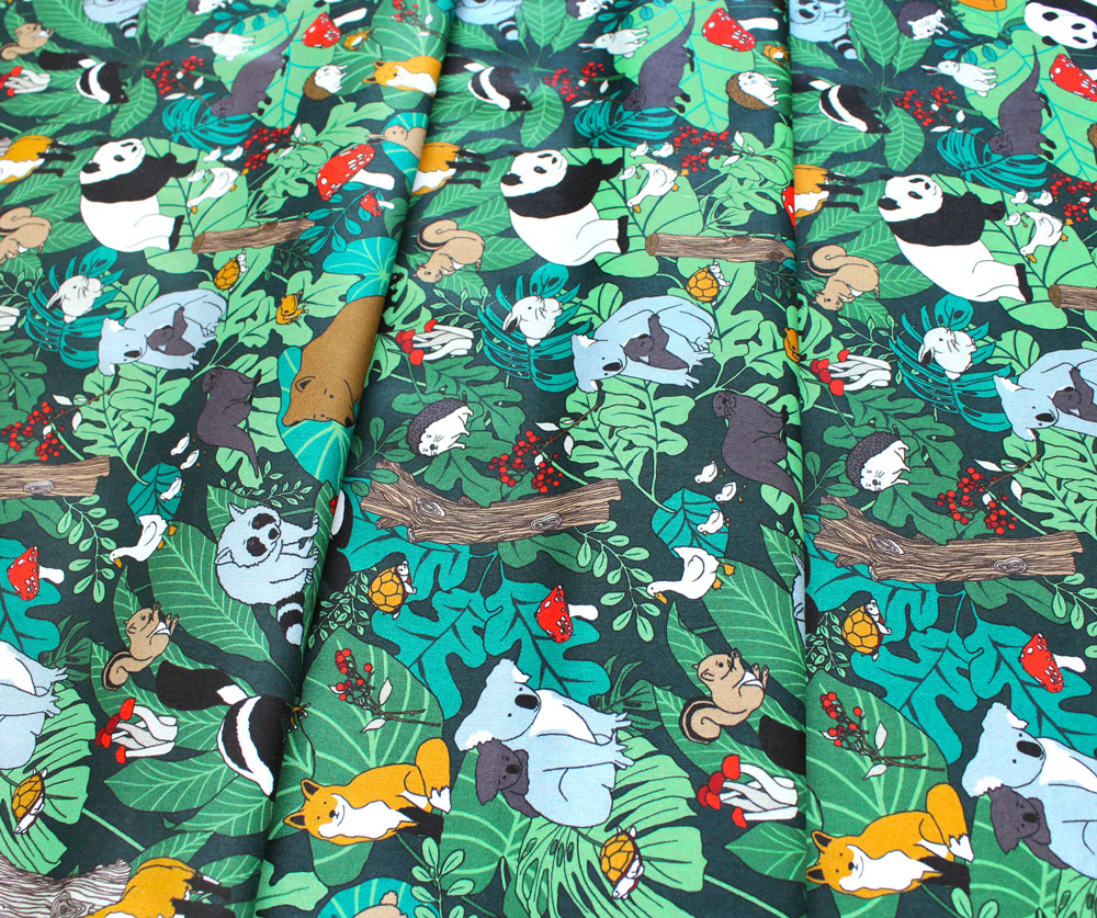 Paintbrush Studio Fabrics Menagerie 120-99700 Animal Gathering