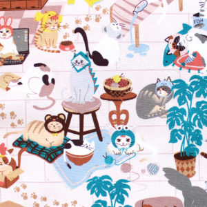Paintbrush Studio Fabrics Hats for Cats 120-208001 Cat Room