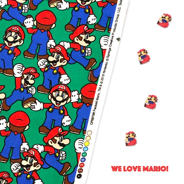 We Love Mario みんな大好き!マリオの生地が入荷