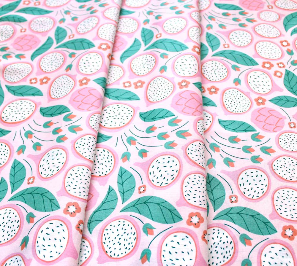 Cloud9 Fabrics Ethereal Jungle 213601 Dragonfruit