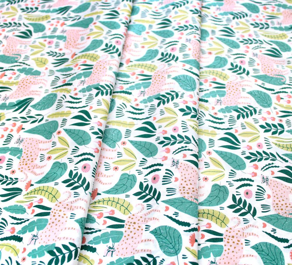 Cloud9 Fabrics Ethereal Jungle 213401 Jungle Cats