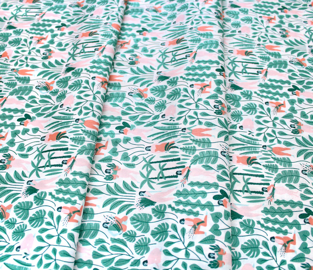 Cloud9 Fabrics Ethereal Jungle 213501 Botanical Babes