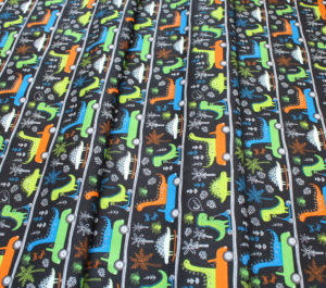 Camelot Fabrics Roarsome 21180403-03 Dinosaurs on the Go in Carbon