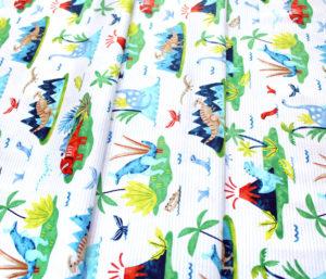 Studio E Fabrics Hear Me Roar! 4395-1 Scenic White