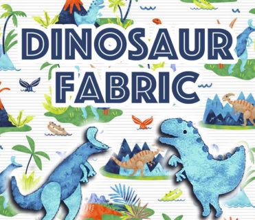 恐竜柄の生地 DINOSAUR FABRIC