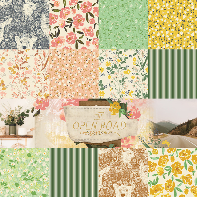 Art Gallery Fabrics The Open Road Collection by Bonnie Christine