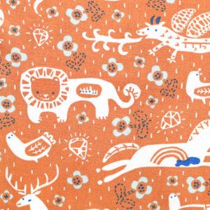 Birch Fabrics Enchanted Kingdom Key to The Kingdom Orange