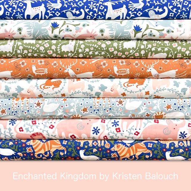 子供におすすめ可愛い動物柄生地 Birch Fabrics Enchanted Kingdom
