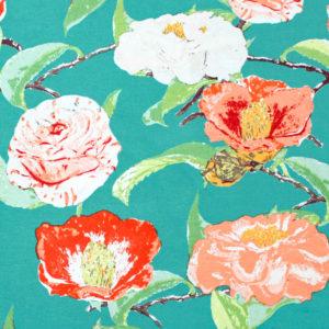 Art Gallery Fabrics Floralish Evergreen Camellia