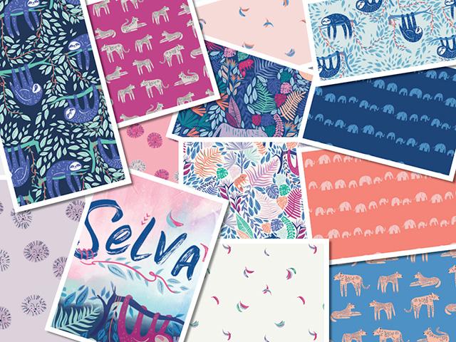 近日入荷 Art Gallery Fabrics Selva Collection