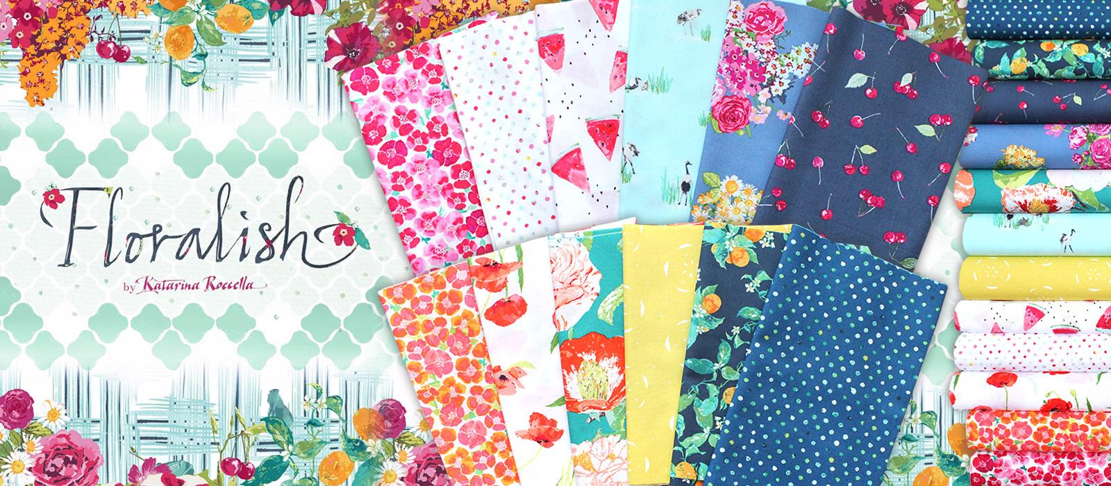 """きれいな花柄&フルーツ柄 Art Gallery Fabrics """"Floralish"""""""