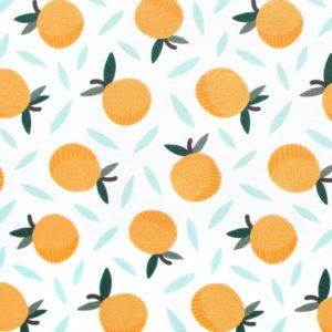Paintbrush Studio Fabrics Fruity 120-19852 White Oranges