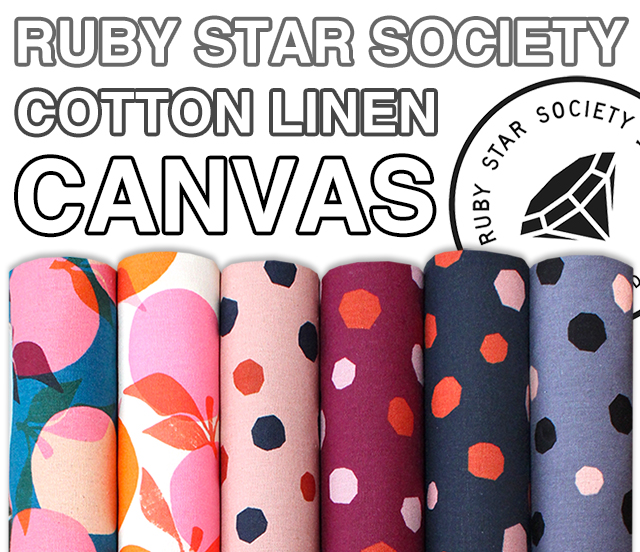 Ruby Star Society Cotton Linen Canvas 2019 Collection 入荷
