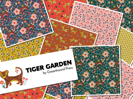 Paintbrush Studio Fabrics Tiger Garden