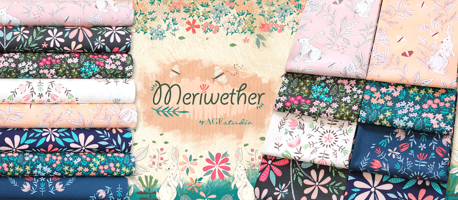 ノスタルジー感溢れる生地 Art Gallery Fabrics Meriwether Collection