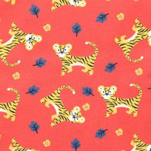 Paintbrush Studio Fabrics Tiger Garden 120-21121 Tiger Field Orange