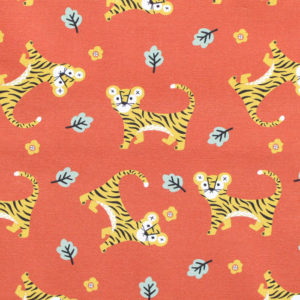 Paintbrush Studio Fabrics Tiger Garden 120-21122 Tiger Field Rust