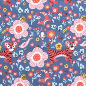 Paintbrush Studio Fabrics Tiger Garden 120-21101 Main Royal Blue