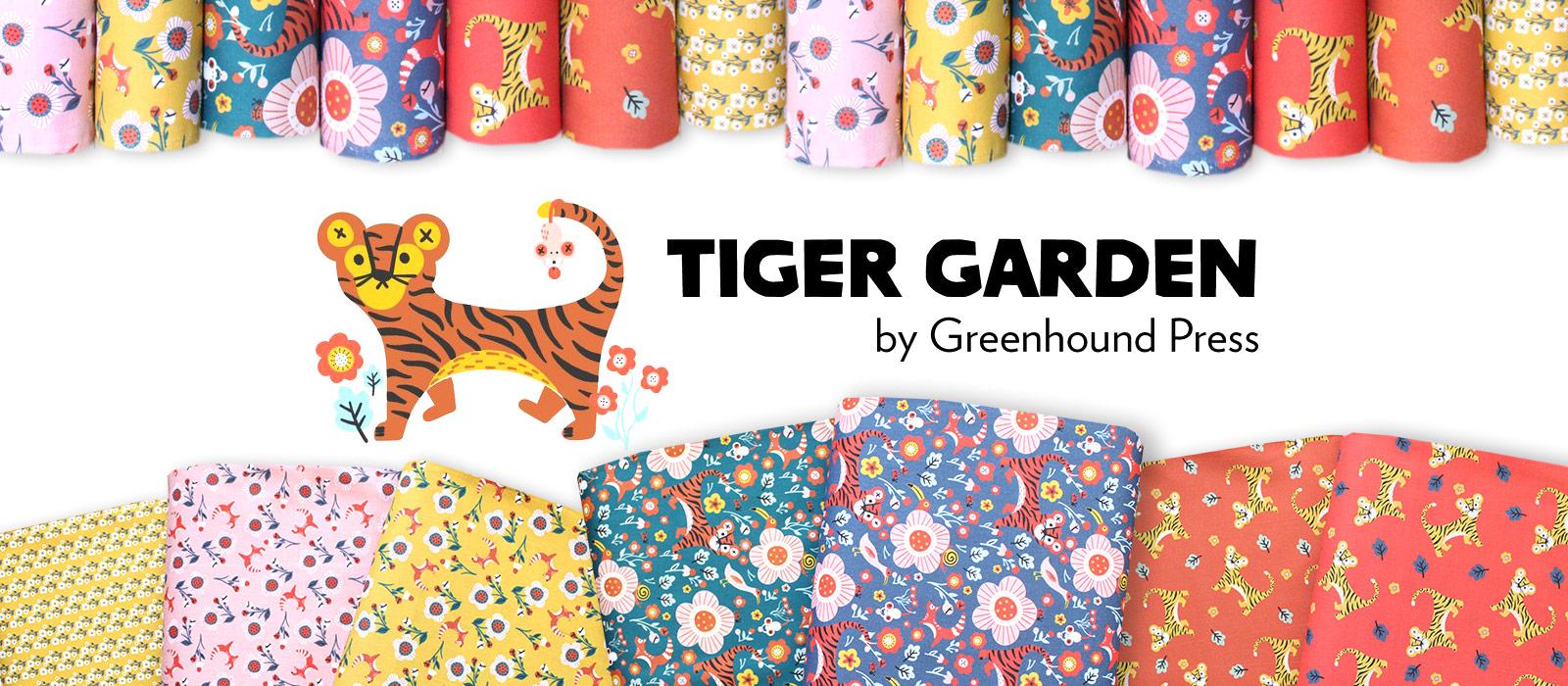"""バズった!トラ柄生地 Paintbrush Studio Fabrics """"Tiger Garden"""""""