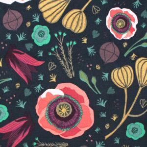 Cloud9 Fabrics Forest Jewels 222001 Dark Blooms