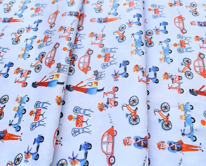 Windham Fabrics Ooh La La Blue Street Life