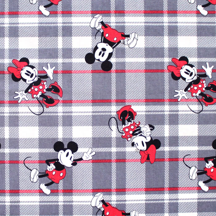 Springs Creative / Disney Mickey & Minnie Plaid