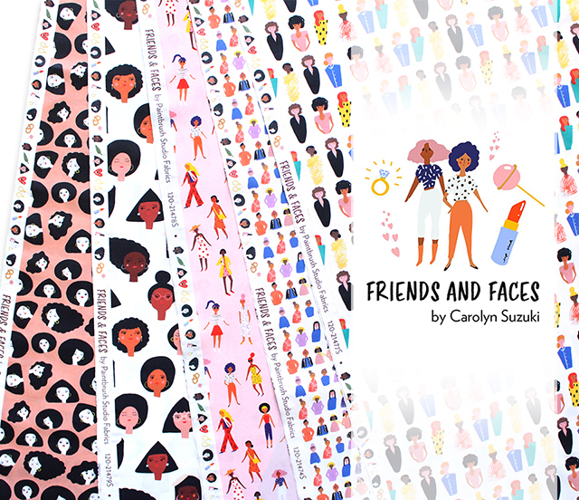 Paintbrush Studio Fabrics Friends and Faces Collection 入荷