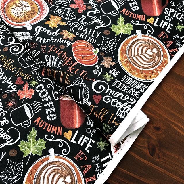 カフェ好きにおすすめの生地 Pumpkin Spice Latte