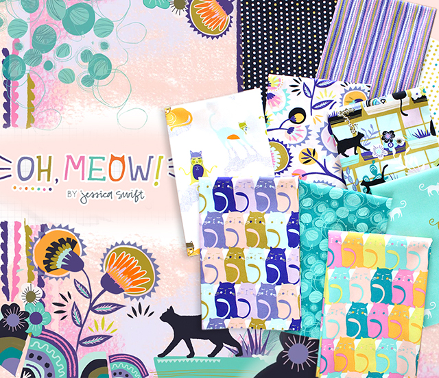 Art Gallery Fabrics Oh, Meow! Collection 入荷
