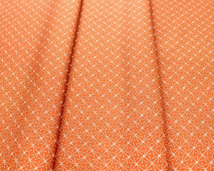 Cloud9 Fabrics Lisbon Square 226946 Sparks Orange