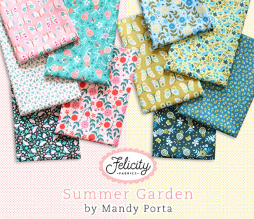 Felicity Fabrics Summer Garden Collection by Mandy Porta