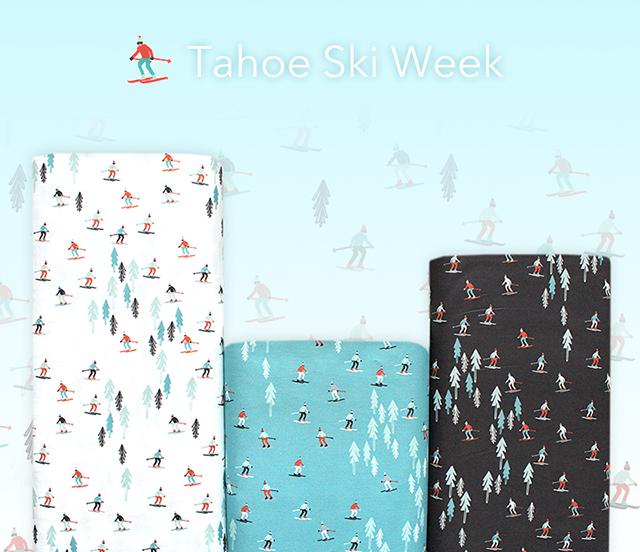 夏だけど…..スキー柄入荷 Moda Fabrics Tahoe Ski Week