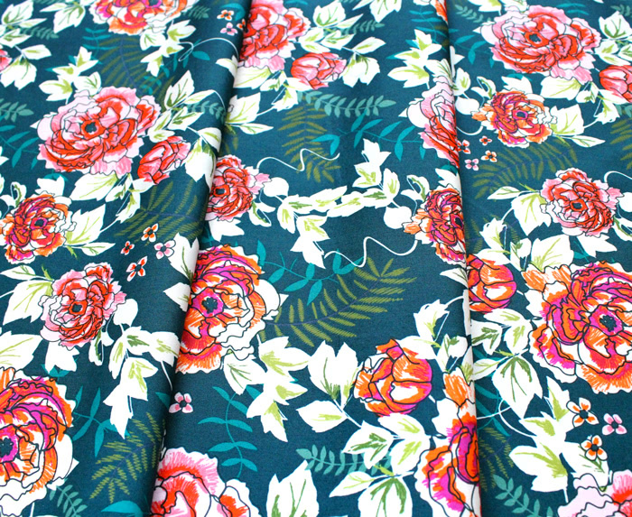 Art Gallery Fabrics Trouvaille Everblooming Camellias Aglow