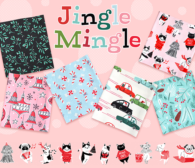 Cloud9 Fabrics Jingle Mingle Collection 入荷