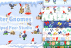 Windham Fabrics Winter Gnomes Collection by Striped Pear Studio (Kirsten Sevig)