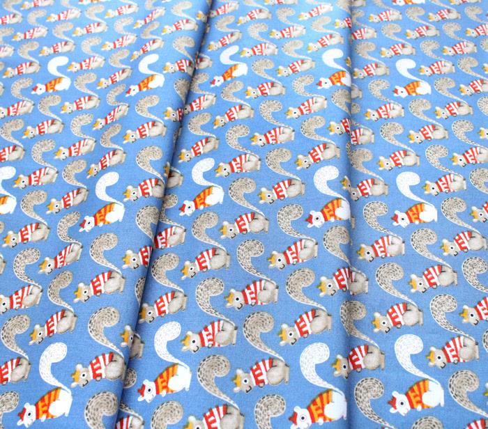 Windham Fabrics Sweet Oak 51306-5 Squirrels Blue