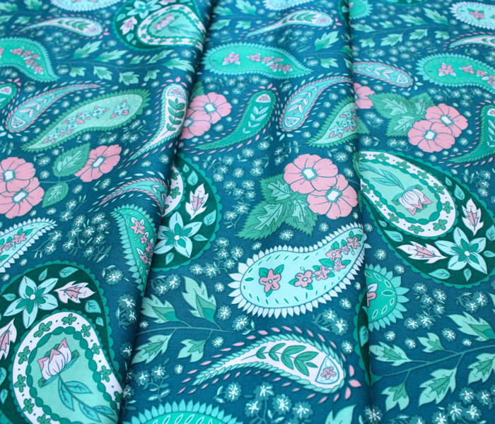 Art Gallery Fabrics Flowerette Cultivating Boteh