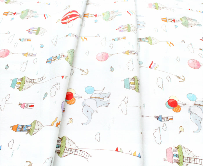 Michael Miller Fabrics City Hoppers DC9175-CREM-D Island in The Sky