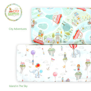 Michael Miller Fabrics City Hoppers by Lisa Glanz