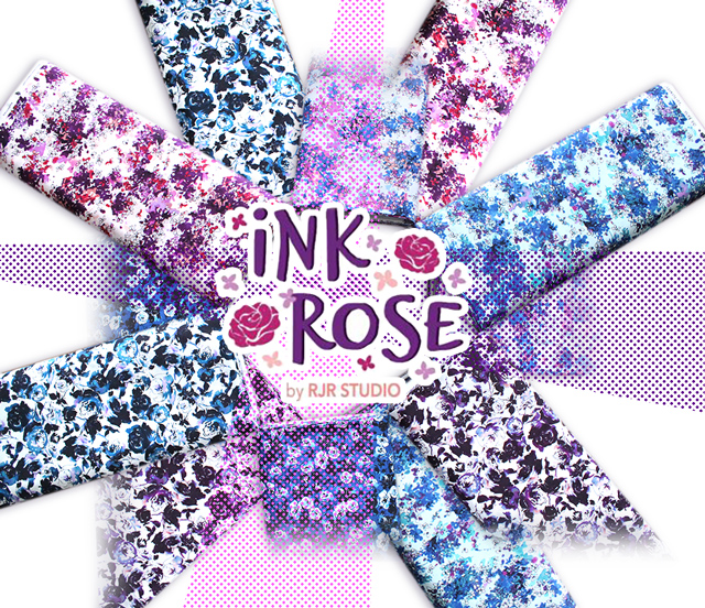 RJR Fabrics Ink Rose Collection 入荷