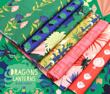 Cloud9 Fabrics Dragons & Lanterns Collection by Kate Merritt