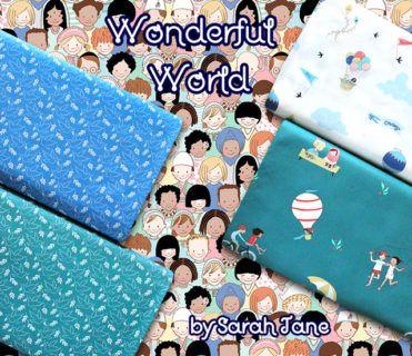 Michael Miller Fabrics Wonderful World Collection by Sarah Jane