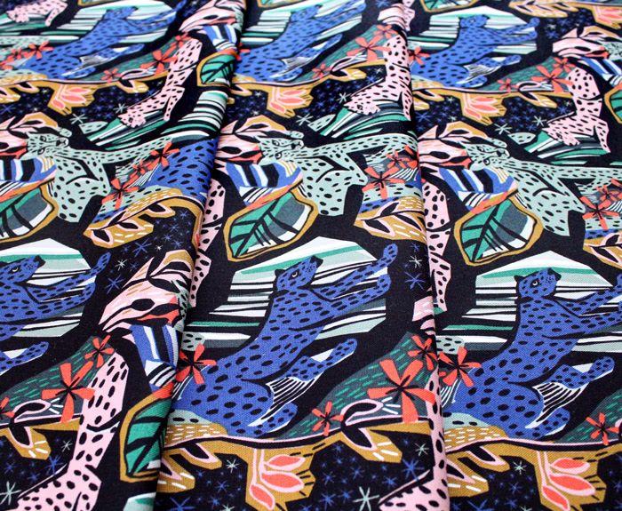 Cloud9 Fabrics Under One Sky 226997 Jungle Royals キャンバス