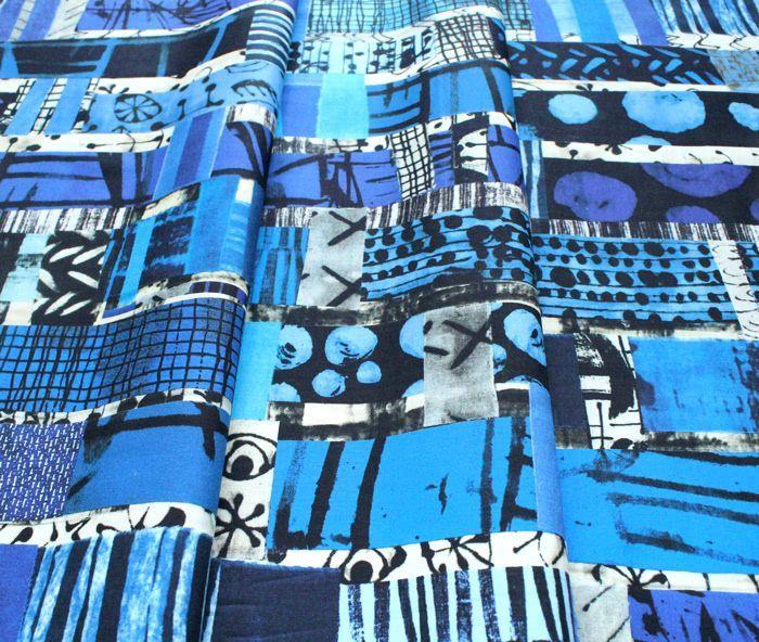 Windham Fabrics The Blue One 52186D-X Totem Multi