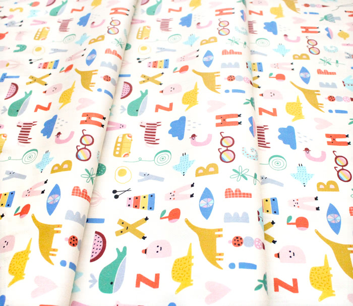 Paintbrush Studio Fabrics Animal Alphabet 120-21823 ABC Alphabet