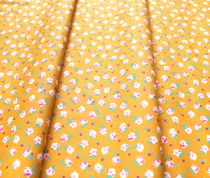 Art Gallery Fabrics The Flower Society Gentle Rosebuds Solar