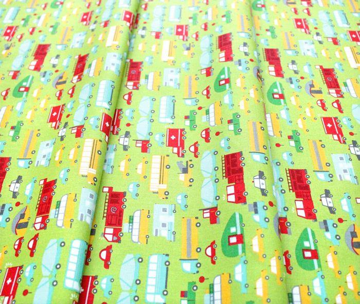 Moda Fabrics On The Go 20721-14 Beep Beep Grass